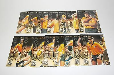 1995 Futera Rugby Union - 1991 World Cup XV complete set of 15 insert cards