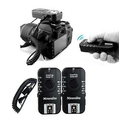 Wireless Flash Trigger Remote Transmitter & Receiver for Canon Olympus DSLR Y1E1
