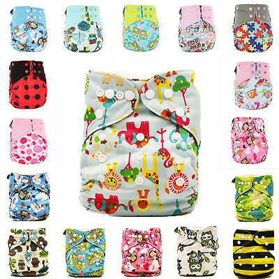 Soft Baby Pocket Washable Nappy Reusable Cloth Diaper Bamboo Charcoal Cover Wrap