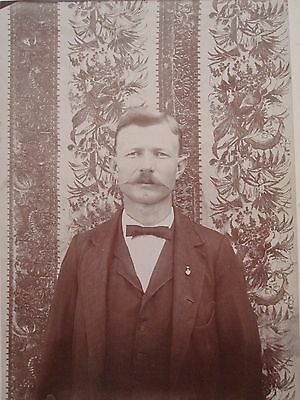Antique Babyhead Tx Baby Killed By Indians Wilbern Id'd Rare Cabinet Card Photo