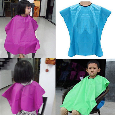 Comfortable Child Salon Waterproof Hair Cut Hairdressing Barbers Cape Gown Cloth