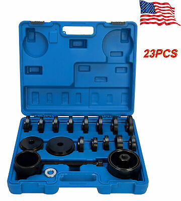23PCS Front Wheel Drive FWD Bearing Press Kit Puller Pulley Tool Removal Adapter