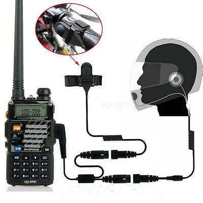 Full Face Close Helmet Motorcycle Headset Earpiece For Baofeng UV5R Radio EPYG