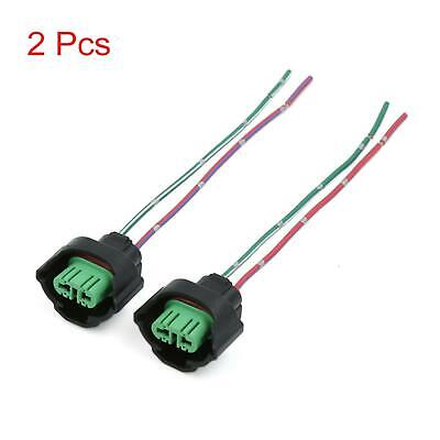 2 Pcs H11 Headlight Bulb Female Wire Harness Connector Wiring Socket Adapters