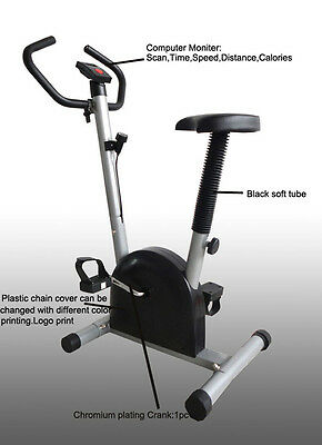 Home Indoor Exercise Cycling Bike Cardio Aerobic Adjustable Resistance Black