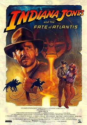 INDIANA JONES and the Fate of Atlantis PHOTO Print POSTER Harrison Ford Game 002