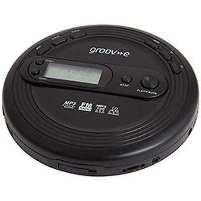 Groov-e GVPS210 Retro Series Personal CD Player with FM Radio Black - New