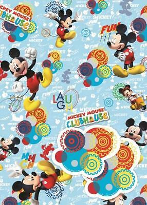 Mickey Mouse Clubhouse 2 Sheets Of Gift Wrap And 2 Gift Tags New Gift