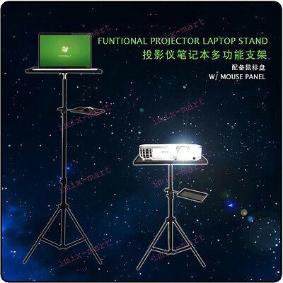 NEW 690-2140mm Funtional Laptop+Projector w/ Tray Holder Tripod Mounts&Stands