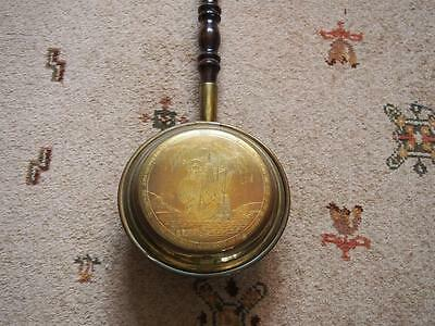 Collectable Antique Vintage Warming Pan Brass/Copper The Mayflower Ship Interest