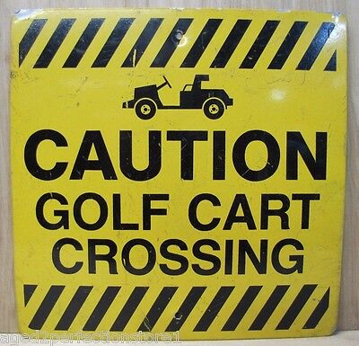 Vintage Country Club Golf Course Sign CAUTION GOLF CART CROSSING - Columbia Md