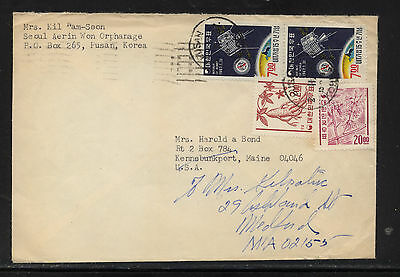 Korea  364,369a, 549 (2) on cover to US        KL1210