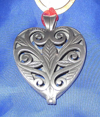 Precious Memories Keepsake Ornament Pewter Christams Pewter Heart Leaves New
