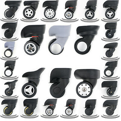 1 Pair Replacement Luggage Suitcase Wheels Swivel Universal Wheel For Any Bags
