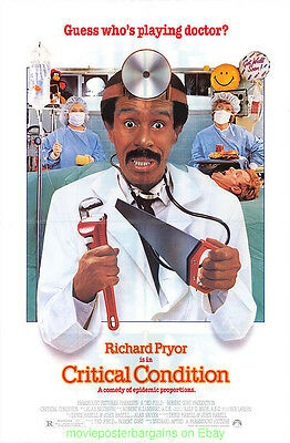 Critical Condition Movie Poster Richard Pryor Original Rolled 1987 One Sheet