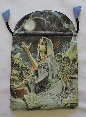 NEW Drawing Down the Moon Satin Tarot Bag Lo Scarabeo