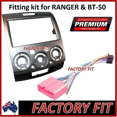'For Mazda BT-50 For Ford Ranger PK 07-11 2 Din Dash Fascia ISO Cable Surround