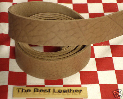"""HORWEEN CHROMEXCEL HOT CHOCOLATE LEATHER 9oz. 50"""" x 1.5"""" BELT STRAP 2nd QLTY"""