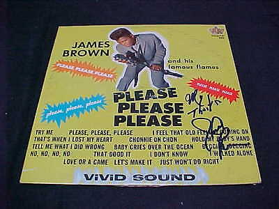 JAMES BROWN Please Please Please King 909 Signed Album Cover