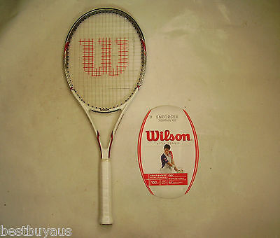 New! Wilson Enforcer Control 103 Graphite Tennis Racquet Rrp $149