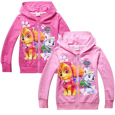 Loverly Girls Paw Patrol Hoodies Coat Newest Kids Hooded Cartoon Coat Clothes
