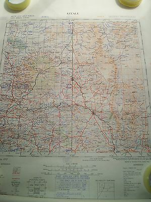 Kitale East Africa 1:500,000 Map 1949