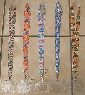 Winnie The Pooh & Friends Lanyard for Pin Trading inc. Waterproof Holder
