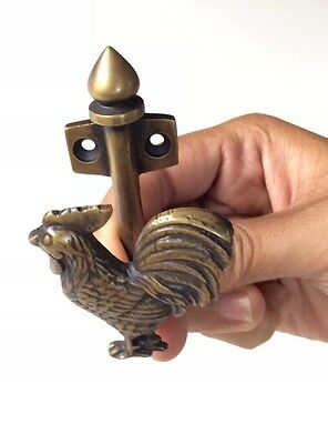 Pure Bronze Rooster Cabinet Door Handle or Hook