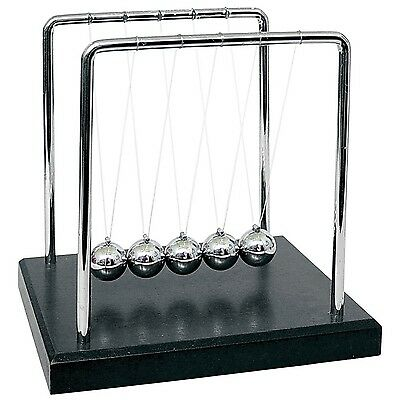 Large Newtons Cradle Office Desk Toy Kenetic Educational Gravity Balance Balls