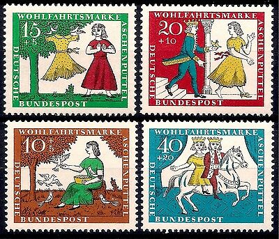 Germany 1965 Cinderella Fairy Tales Story Stories Horse Animation 4v MNH