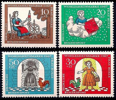 Germany 1967 Brothers Grimm Fairy Tales Stories Rooster Birds Children Books MNH