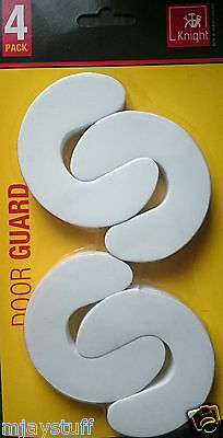 KNIGHT 4 pk BABY CHILD SAFETY DOOR SLAMMING GUARD KIDS FINGER PROTECTOR STOPPERS