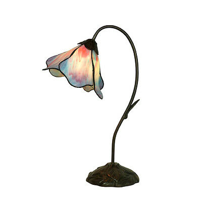 Lotus Blue/pink Tiffany Style Table Lamp Lead Light - Will Ship Australia Wide