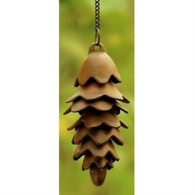 Charming Single Pinecone Wind Chime w/ Adjustable Hanger