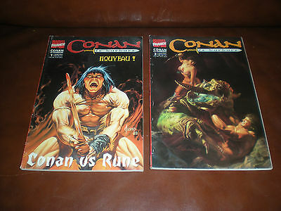 Conan Le Barbare - Lot Des 2 Premiers Tomes - Marvel France 1999