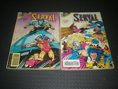Serval Version Integrale Lot 2 Triples Albums N°7 Et 9 - Wolverine Marvel Semic