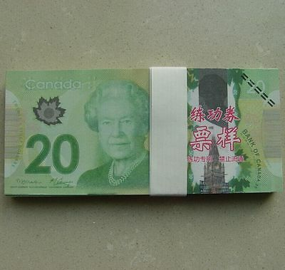 20 C$ Paper Money Canada Bank Notes Commemorate the Collection 100pcs