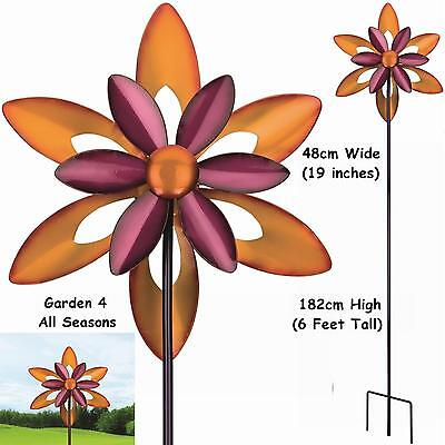 "19"" FIRESTAR 2 Blade Kinetic Windmill Wind Spinner Sun Catcher Regal Art & Gift"