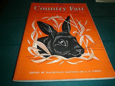 Country Fair Magazine August 1953 A Monthly Journal Of The Open Air John Hanna
