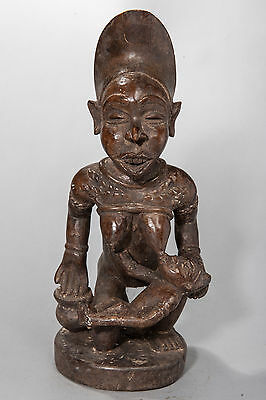 Yombe, Seated, Maternity Figure, D.R. Congo, African Tribal Sculpture
