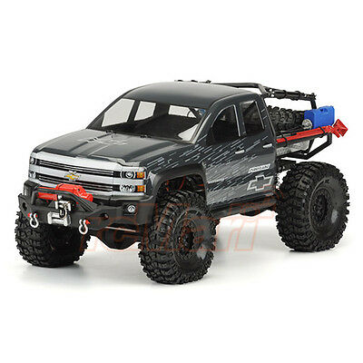 PRO-LINE Chevy Silverado Clear Body Axial SCX10 Trail RC Cars Crawler #3439-00