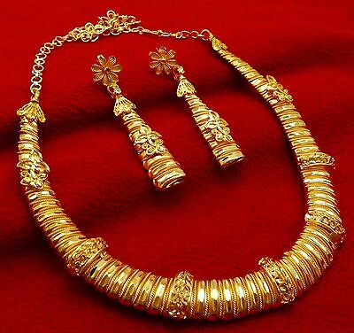 Traditional Designer Gold Plated Bridal Necklace Earrings Ethnic Indian Jewelry