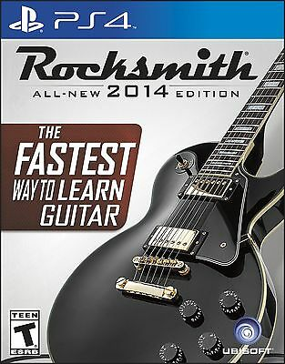 PS4 Rocksmith 2014 Edition Video Game Sony PlayStation 4 Real Tone Guitar Cable