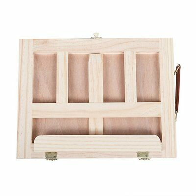 New Wooden Easel Artist Craft Folding Box Sketch Painting Table Drawing Draft