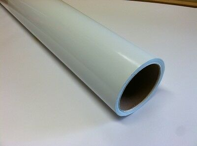 WHITE  Dry Erase Vinyl film,  24 Inch x 10 feet, with Removeable Adhesive