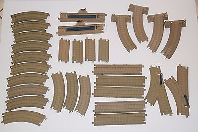 Thomas TOMY Trackmaster Tan Train Track Lot 30 pieces -Curve, Straight, Switch