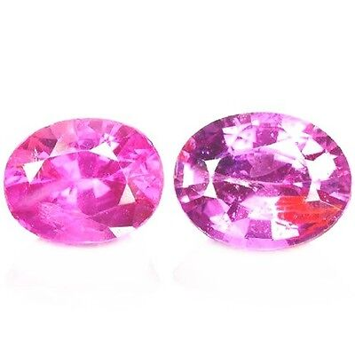 NATURAL SRILANKAN PINK SAPPHIRE LOOSE GEMSTONES (2 pieces) OVAL SHAPE
