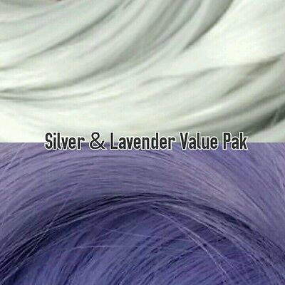 Silver & Lavender XL 2 Color Value Pack Nylon Doll Hair Rerooting Hanks