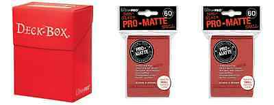 Ultra Pro Red Deck Box + 120 Small Matte Sleeves