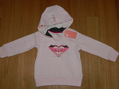 Girls Size 4 Roxy Logo Hoodie Jumper Jacket - Bnwt